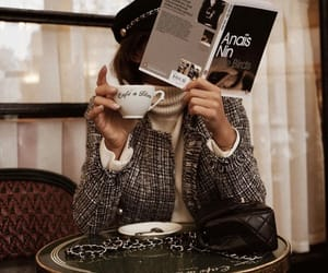 coffee, book, and fashion image