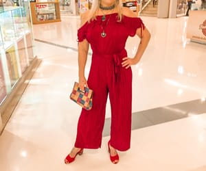 fashion, look, and red image