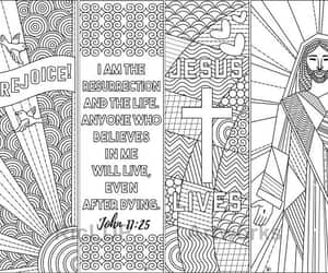 bookmarks, Christ, and coloring image