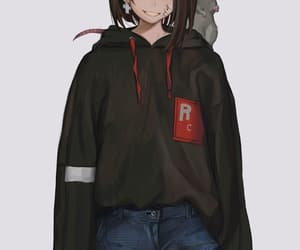 anime, short hair, and teen image