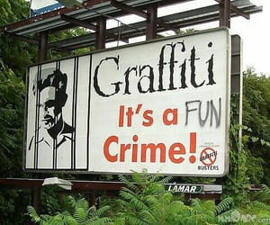 graffiti, crime, and funny image
