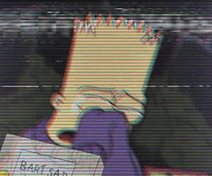 alone, bart, and cry image