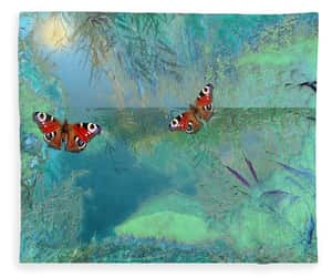blue, butterflies, and nature image