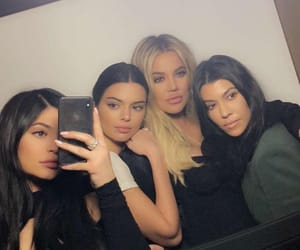 kylie jenner, kendall jenner, and kourtney kardashian image