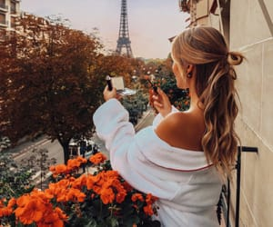 beautiful, girl, and tour effeil image