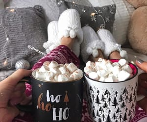 drink, marshmallow, and morning image