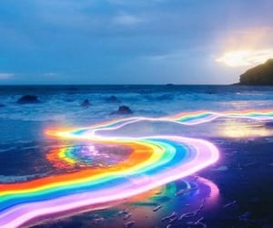 rainbow, colors, and photography image