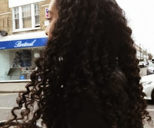 brown, curly, and curly hair image