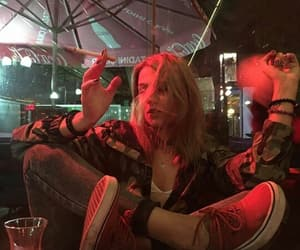 aesthetic, cigarette, and girl image
