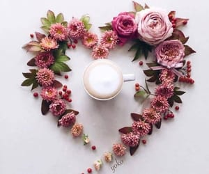 flowers, coffee, and inspiration image