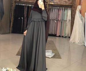 hijab, long dress, and chechen image