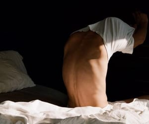 boy, back, and bed image