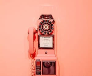 payphone, peach, and peachy image