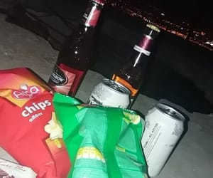 beer, chips, and dark image