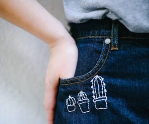jeans, cactus, and denim image