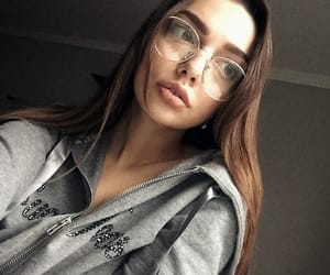 beauty, eyes, and glasses image