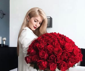 blond, flowers, and 8Марта image