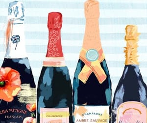 art, bottles, and watercolor image