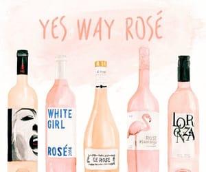 art, bottles, and rose image