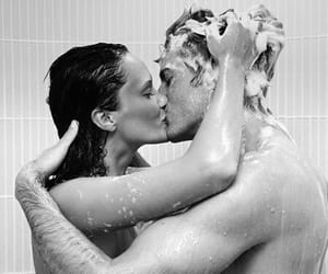 black and white, sweet, and couple image