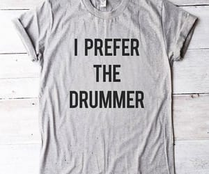 drummer, fashion, and men t shirt image