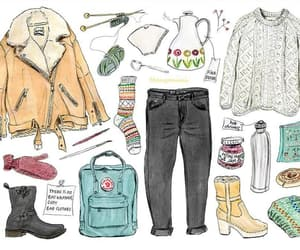 fashion illustration and winter image