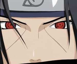 naruto, uchiha, and sharingan image