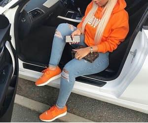 orange, fashion, and blonde image