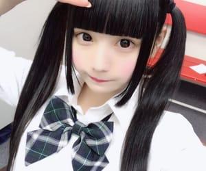 黒髪, ツインテール, and ももあちゃん image