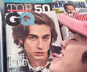 gq, timothee chalamet, and conan gray image