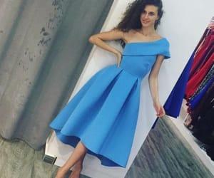 one shoulder dress and tea length dress image