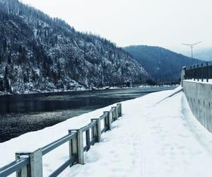 природа, зима, and река image