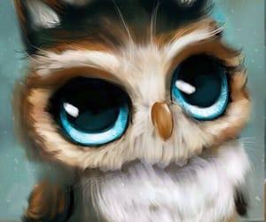 owl, art, and animals image