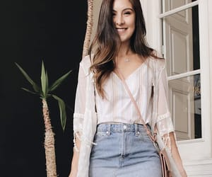 fashion, jean, and skirt image