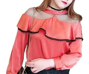 tops, coral pink, and blouses image
