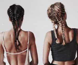 braided, hair, and braids image