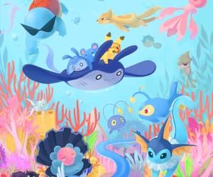 ocean, pokemon, and pikachu image