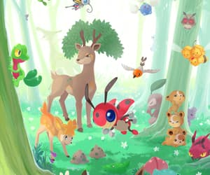 eevee, pokemon, and forest image
