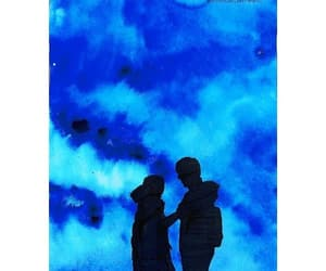 art, silhouette, and love image