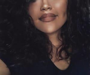 black girl, black woman, and brunette image