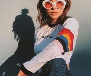 fashion, model, and rainbow image