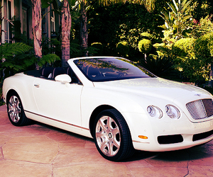 car, white, and Bentley image