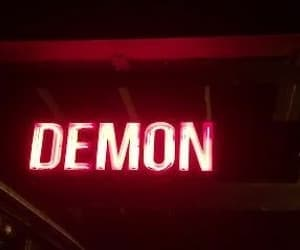 demon, neon, and red image