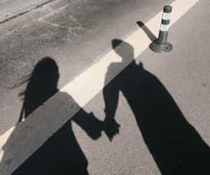 couple, shadow, and aesthetic image