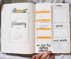 calendar, february, and month image