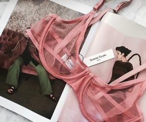 fashion, pink, and bra image