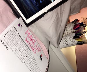 journal, mac, and make up image
