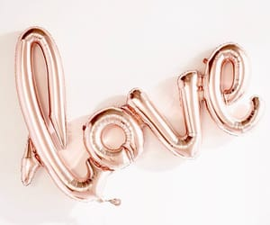 love, balloons, and gold image
