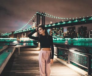 fashion, girl, and lights image