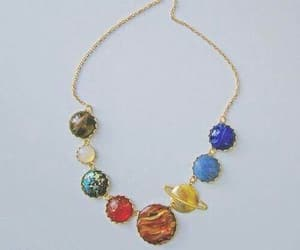 planet, necklace, and galaxy image